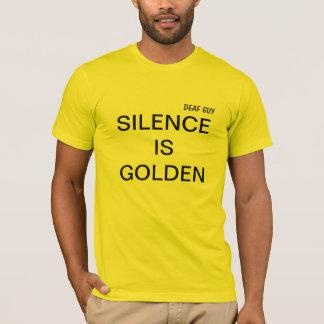 LA PALABRA ES PLATA Y EL SILENCIO ORO camiseta
