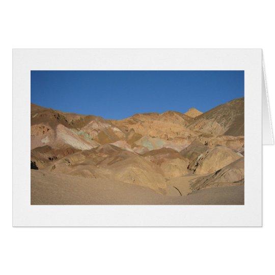 """La """"paleta"""" Death Valley, California del artista Tarjeta De Felicitación"""
