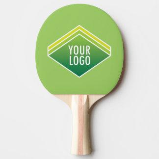 La paleta del ping-pong con el logotipo de encargo pala de ping pong