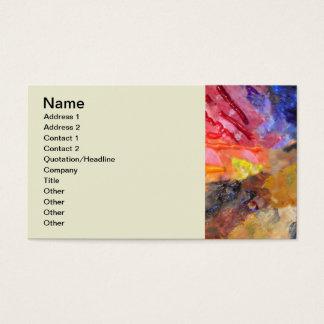 La paleta del pintor colorido tarjeta de negocios