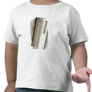 La paleta y una caja del escribano para escribir l camisetas
