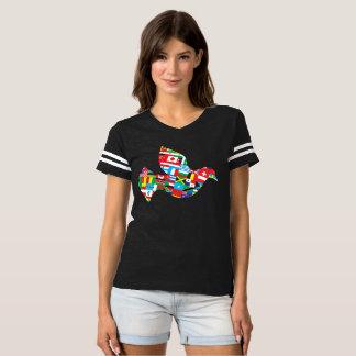 La paloma boquiabierta camiseta
