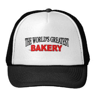 La panadería más grande del mundo gorros bordados