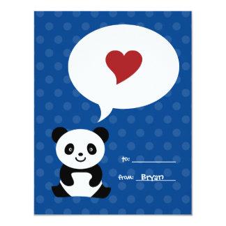 La panda del amor embroma la tarjeta de la tarjeta invitación 10,8 x 13,9 cm