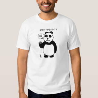La panda gigante dice hola la camisa