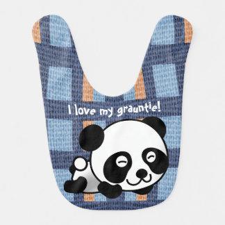 """¡La panda, la tela escocesa y """"yo dulces aman mi Baberos Para Bebé"""