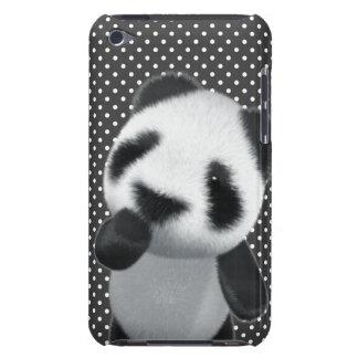 La panda linda 3d piensa (editable) iPod Case-Mate protectores