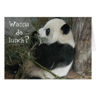 ¿La panda quiere hacer el almuerzo tarjeta