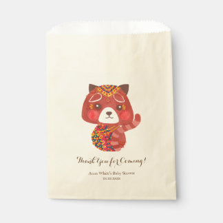 La panda roja linda bolsa de papel
