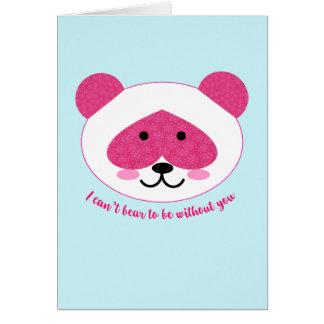 La panda rosada que le falta carda tarjeta