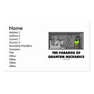 La paradoja de los mecánicos de Quantum Tarjetas De Visita