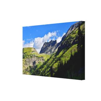 La pared del jardín en Parque Nacional Glacier Lienzo