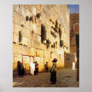 La pared Jerusalén, Jean-León Gerome de Soloman Póster