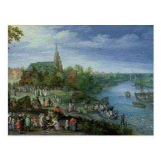 La parroquia anual justa en Schelle, 1614 Postal