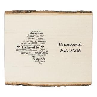 La parroquia de Lafayette pone arte de madera de Panel De Madera