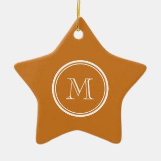 La parte alta ocre coloreó personalizado ornamentos de navidad