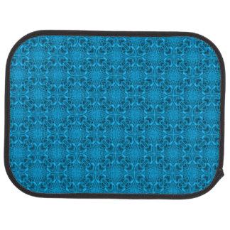 La parte posterior azul de las alfombrillas de