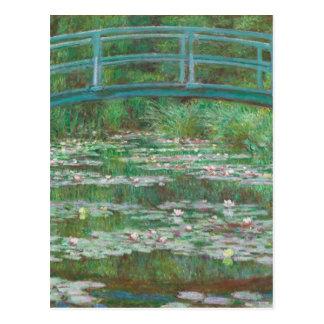 La pasarela japonesa de Claude Monet Postal