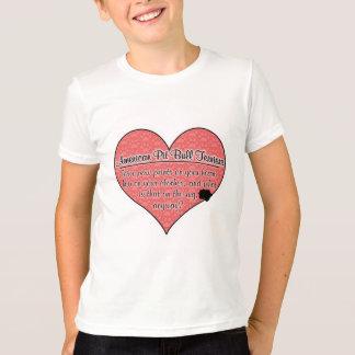 La pata americana de Terrier de pitbull imprime Camisetas