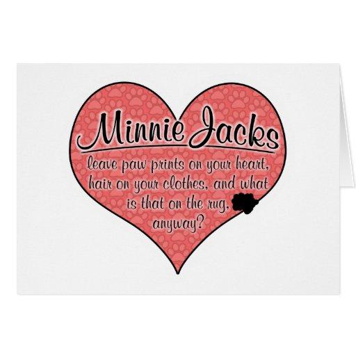 La pata de Minnie Jack imprime humor del perro Tarjeta