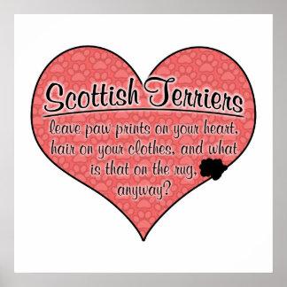 La pata de Terrier del escocés imprime humor del p Póster
