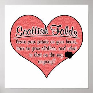La pata del doblez del escocés imprime humor del g póster