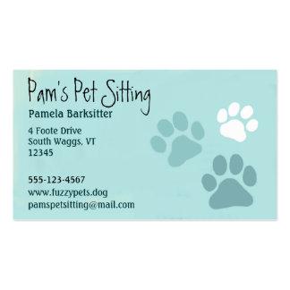 La pata del mascota imprime al amante animal tarjetas de visita