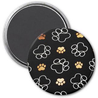 La pata del perrito del perro imprime los regalos  imanes