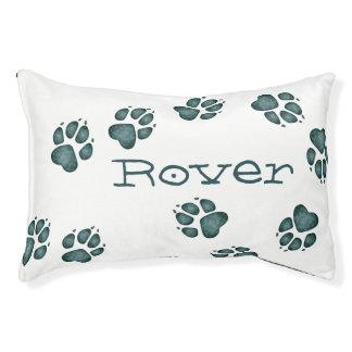 La pata del perrito imprime la cama azulverde 5