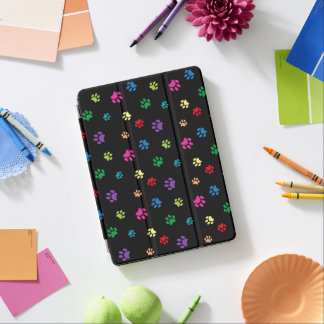 La pata pintada arco iris imprime (la oscuridad) cubierta para iPad pro