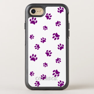 La pata púrpura imprime el modelo funda OtterBox symmetry para iPhone 8/7