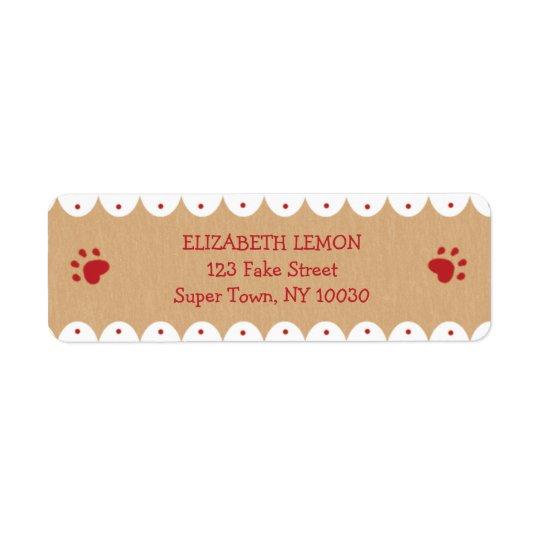 La pata roja imprime pequeñas etiquetas de