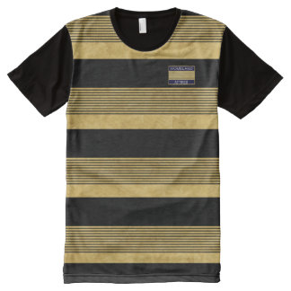 La patria Attires la camisa de las rayas negras Camiseta Con Estampado Integral