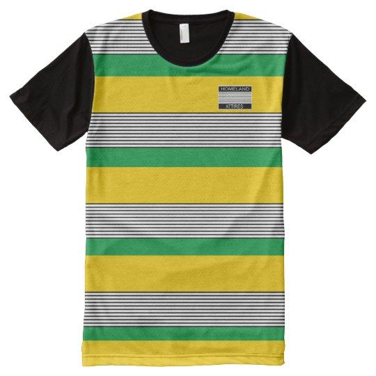 La patria Attires la camisa de los colores de Camiseta Con Estampado Integral