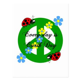 La paz cada día es Día de la Tierra Postal