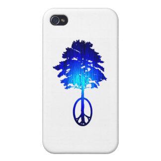 La paz de AZUL iPhone 4/4S Carcasas