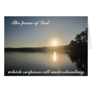 La paz de dios que supera toda la comprensión tarjeta de felicitación