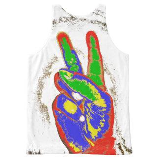 La paz de MKFMJ canta Camiseta De Tirantes Con Estampado Integral