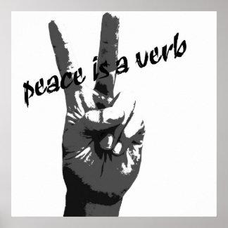 La paz es un poster del verbo