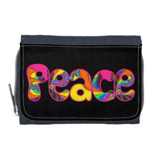 La paz me colorea cartera brillante