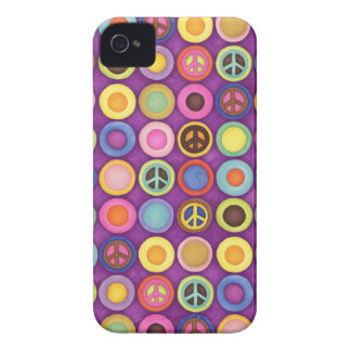 La PAZ PUNTEA la caja de Blackberry iPhone 4 Case-Mate Fundas