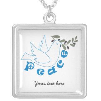 La paz se zambulló con el collar del personalizado