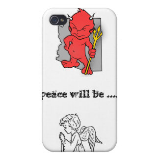 la paz será… iPhone 4/4S carcasas