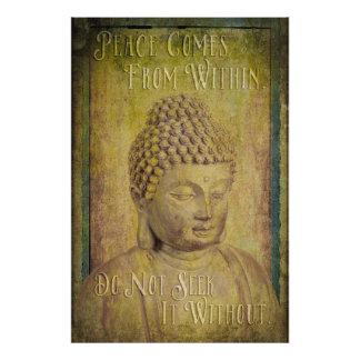 La paz viene dentro de la cita de Buda Foto