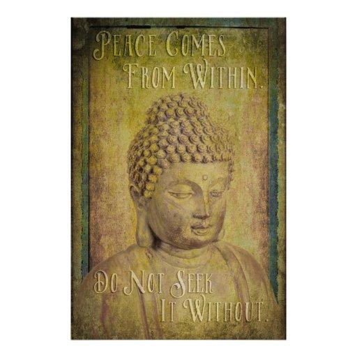La paz viene dentro de la cita de Buda Impresiones Fotograficas