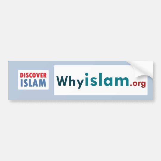 La pegatina para el parachoques descubre el Islam