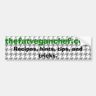 La pegatina para el parachoques gorda del cocinero