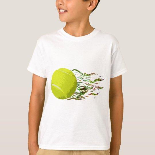 La pelota de tenis flamea el US Open artístico Camiseta