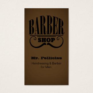 La peluquería de caballeros de los caballeros tarjeta de negocios