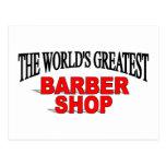 La peluquería de caballeros más grande del mundo postales